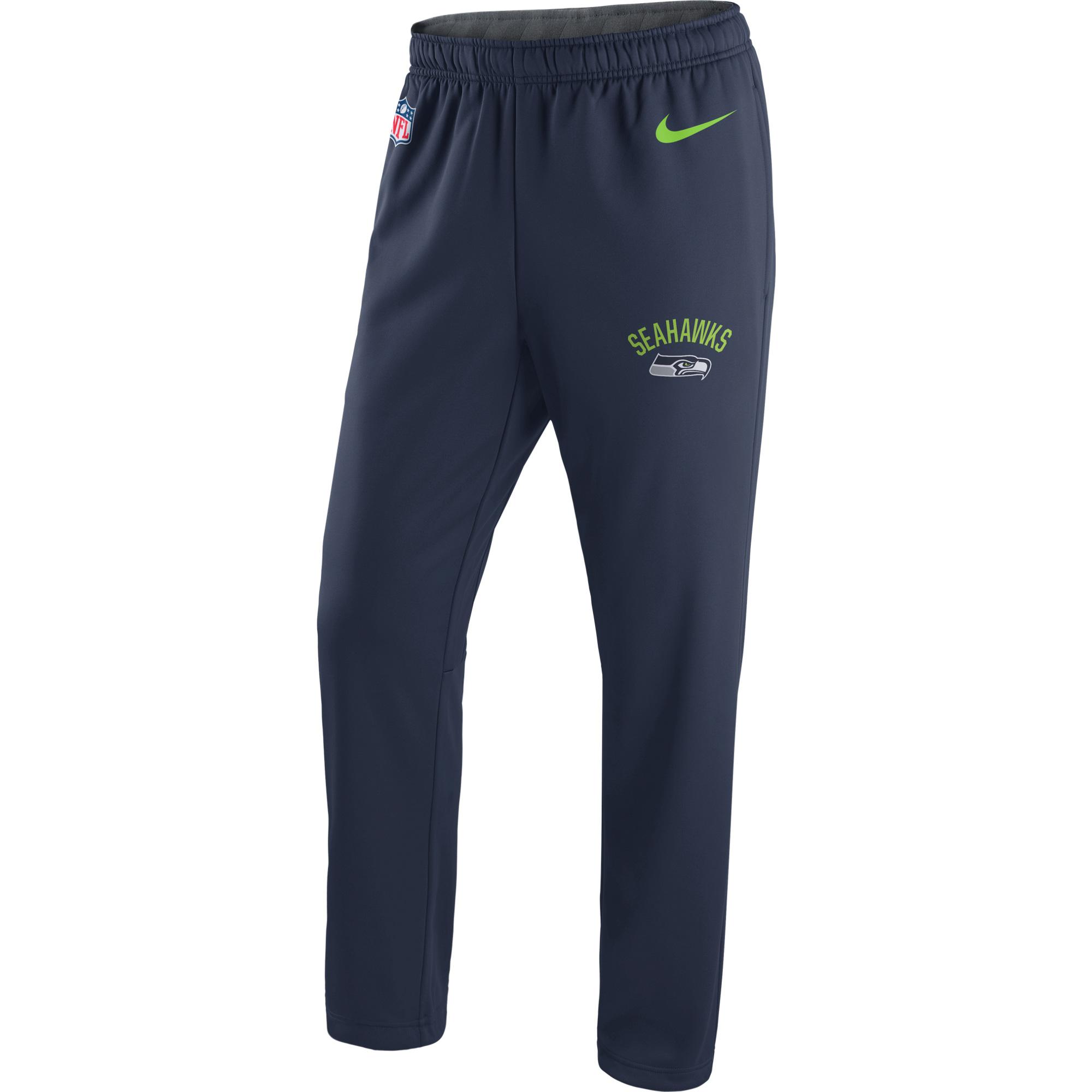 Men's Nike College Navy Seattle Seahawks Circuit Sideline Performance Pants