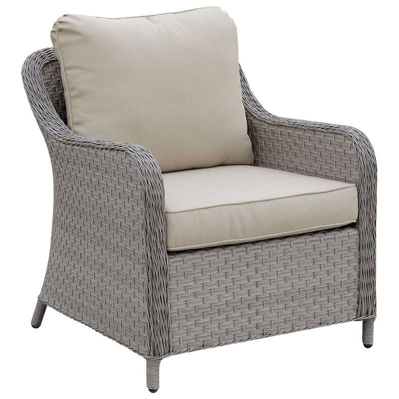 Furniture of America Efren Patio Chair in Gray