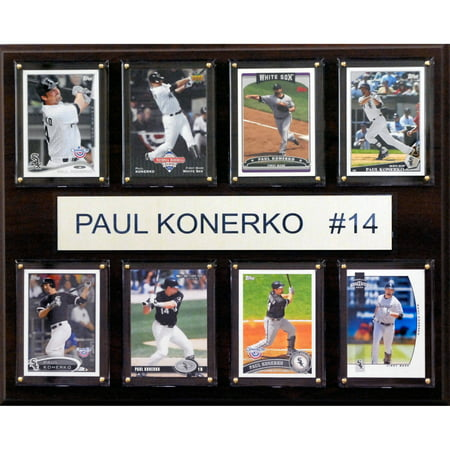 C&I Collectables MLB 12x15 Paul Konerko Chicago White Sox 8-Card Plaque Chicago White Sox Plaque