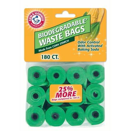- Arm & Hammer 40% Corn Starch Pet Waste Bag Refills, 180Ct