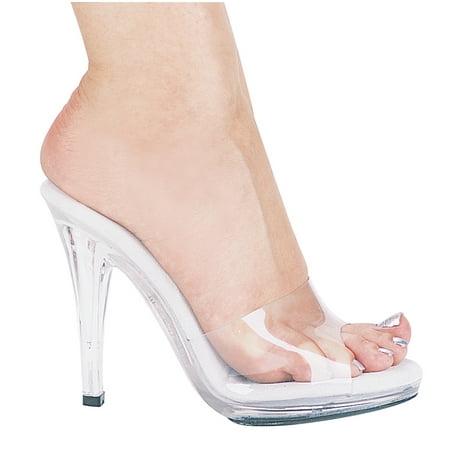 Vanity 4.5'' Heel Clear Mule Shoe