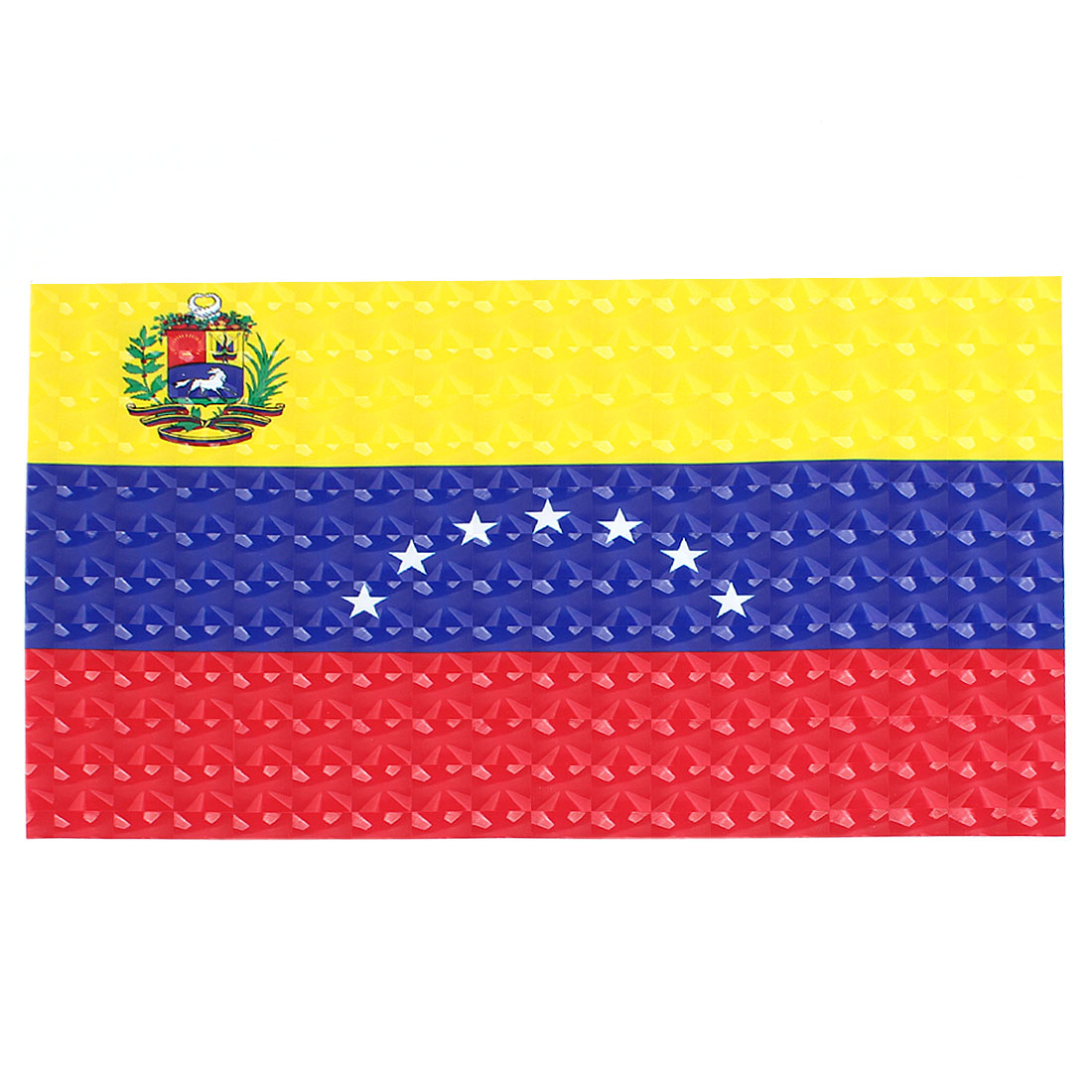 Unique Bargains Venezuelan Flag Print Vinyl 15.6  Laptop Notebook Skin Cover Decal Sticker