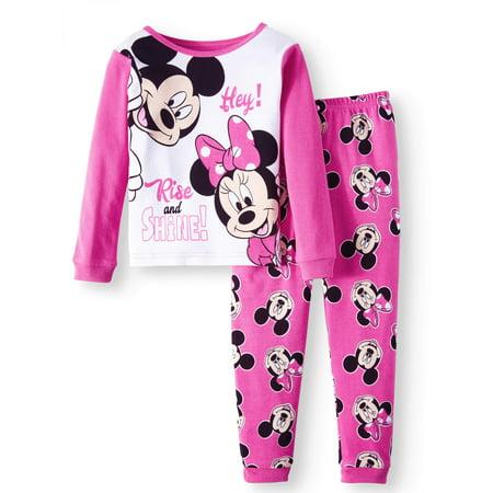 Minnie Mouse Cotton Tight Fit Pajamas, 2-piece Set (Toddler Girls)