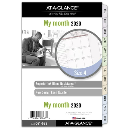 AT-A-GLANCE Day Runner Nature Monthly Planner Refill Size 4 - Monthly Planner Day Runner Calendar