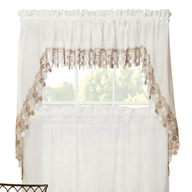 Renaissance Home Fashion Lillian Swag, Lace Curtains Band