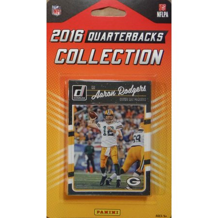 2016 Donruss NFL Football Quarterbacks Collection Special Edition Factory Sealed 10 Card QB Set Including Tom Brady, Russell Wilson, Aaron Rodgers, Cam Newton and