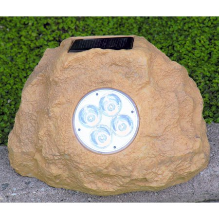 Sandstone Solar Light (Homebrite Solar Power Jumbo Sandstone Rock Spot Lights - Set of)