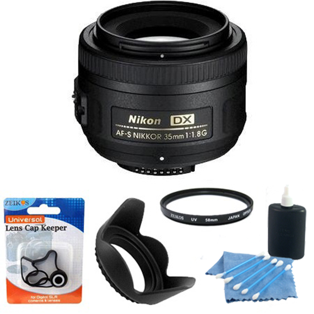 Nikon Auto Focus-S DX 35mm F/1.8G Lens Exclusive Accessory Bundle - Fixed