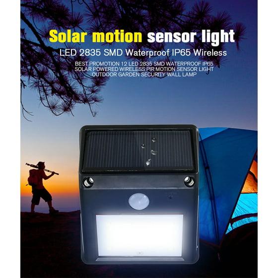 Kingso 12 LED Outdoor Solar Powered Wall Lights Super Bright Motion Sensor  Light Bulb Landscape Lighting Lamp Garden Security