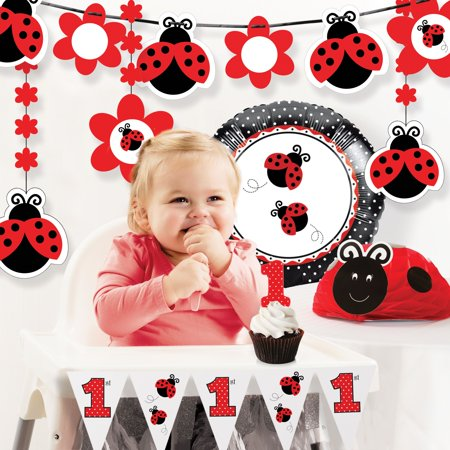 Ladybug Fancy 1st Birthday Party Decorations Kit