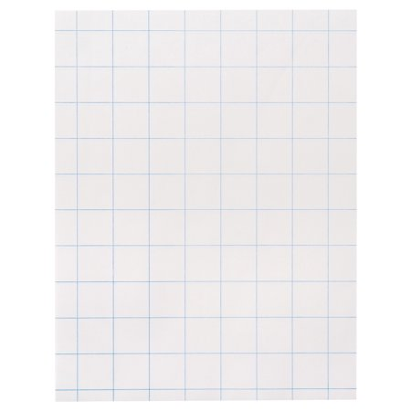 School Smart Double Sided Graph Paper, 8-1/2 x 11 in, 15 lb, 1 in Ruling, White, Pack of 500 Double Rainbow Note Paper