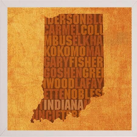 frame usa indiana state words framed print 11 75 x11 75 by david