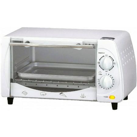 White Oven (Brentwood 9-Liter (4 Slice) Toaster Oven Broiler (White))