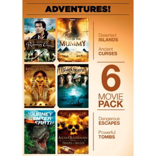 6-Movie Adventure Pack: Robinson Crusoe   Tale Of The Mummy   The Curse Of King Tut's Tomb   Blackbeard  ... by ECHO BRIDGE ENTERTAINMENT