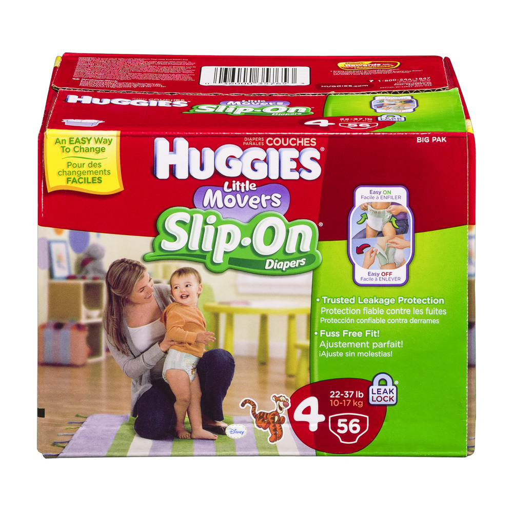 Huggies Little Movers Slip-On Size 4 Disney Diapers - 56 CT