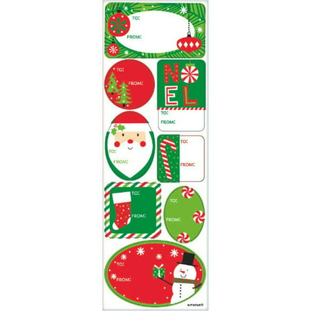 Traditional Christmas Gift Adhesive Labels 48 Ct Value Pack