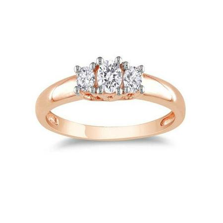 Attractive Three Stone Affordable Three Stone Engagement Ring 1 Carat Diamond on