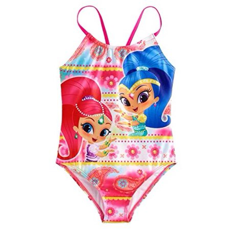 ea5f42d8f6 Shimmer and Shine - Shimmer and Shine Girls Swimwear Swimsuit (4, Pink) -  Walmart.com