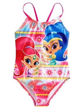 Shimmer and Shine Girls Swimwear Swimsuit (6X, Pink)