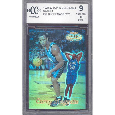 - 1999-00 topps gold label #98 COREY MAGGETTE rookie BGS BCCG 9