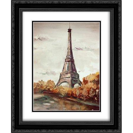 Paris 2 2X Matted 20X24 Black Ornate Framed Art Print By Boho Hue Studio