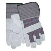 MCR SAFETY 12011 Leather Palm Gloves,Cowhide,L,PR