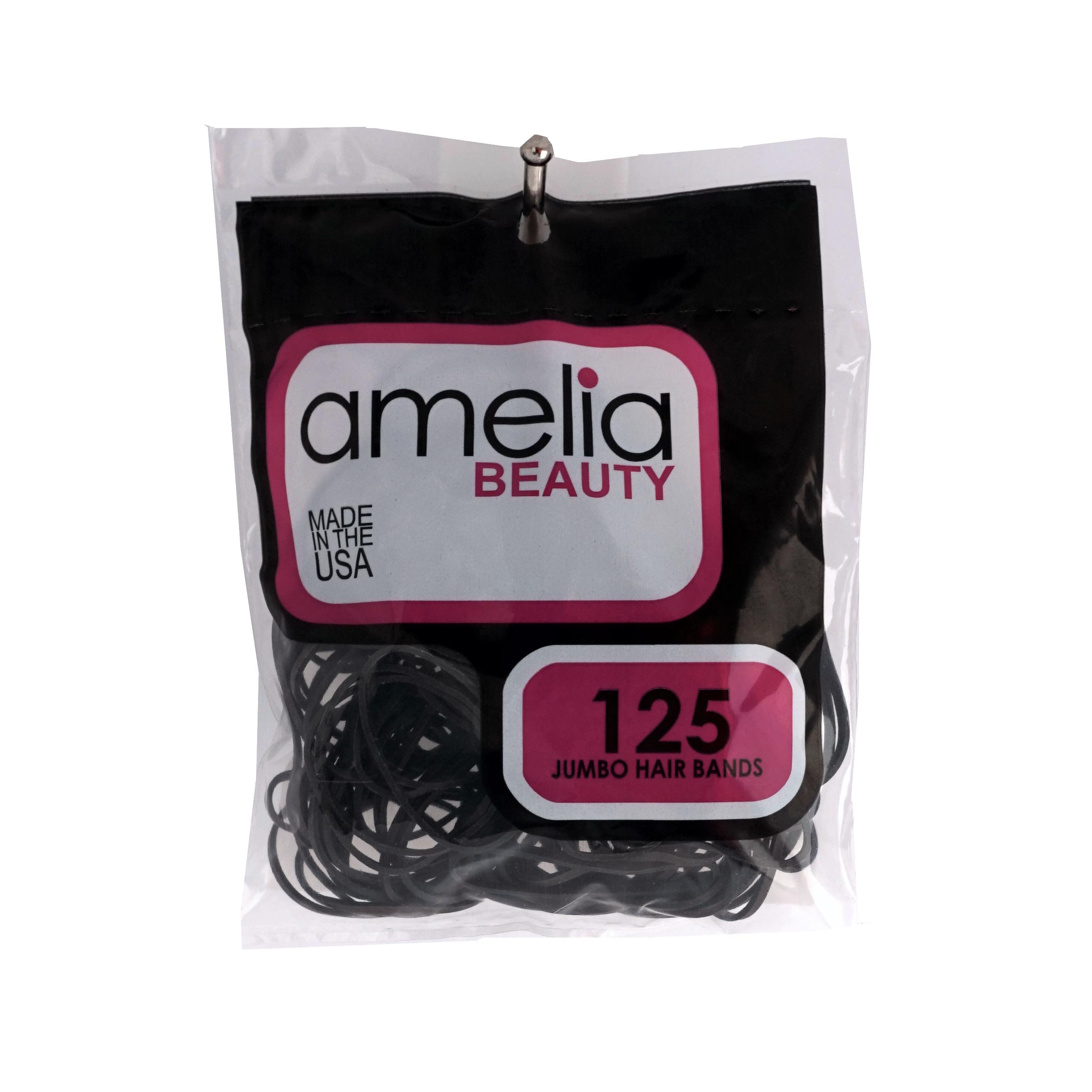 125, Black, Jumbo Size, Rubber Bands for Pony Tails and Braids