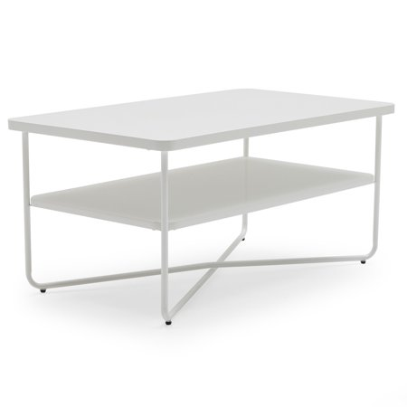 (Set of 4) MoDRN Scandinavian Soren Metal Base Coffee Table - Whites