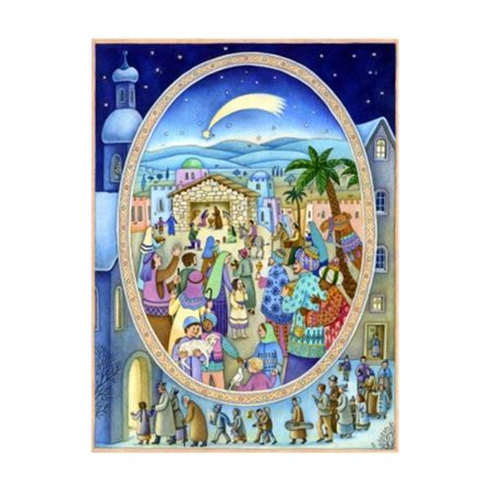 Sell Adv745 Sellmer Advent   Large Nativity Window
