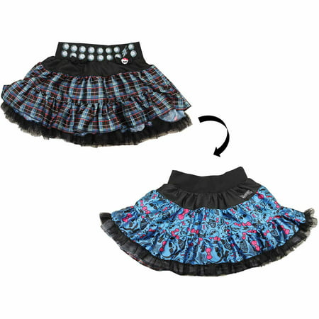 Blue and Black Monster High Pettiskirt Reversible Child Halloween Costume](Christmas Pettiskirt)