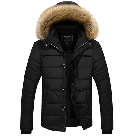 Men's Casual Bubble Hooded Coats Winter Warm Puffer Quilted Parka Jackets