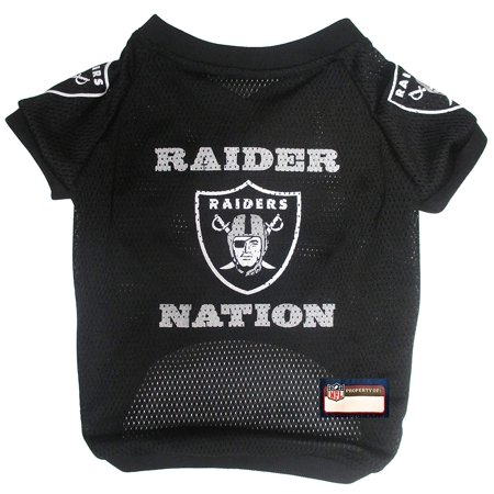 NFL Raider Nation Raglan Mesh Pet Jersey, Small, Officially NFL licensed! - Raglan mesh jersey with neck and sleeve trim for maximumWalmartfort By Pets First