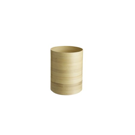 Design Ideas Maganda Wastecan Basket, Round Natural Bamboo Trash Can, 8.9