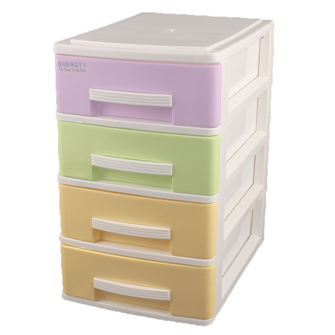 Household Bedroom Four Layers Design Storage Box Container Cabinet Colorful