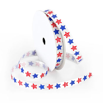 Red//White//Blue Morex Ribbon Stars and Stripes Wired Satin Ribbon Spool 2-1//2-Inch by 3-Yard