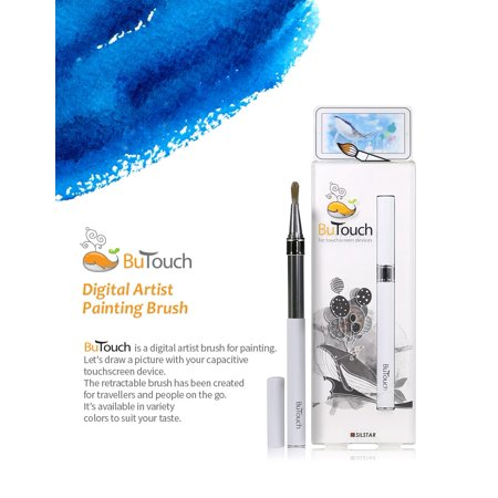 - Butouch Brush Pen Stylus Digital Touch Pen For Android iPhone iPad Tablet Touch Screens White