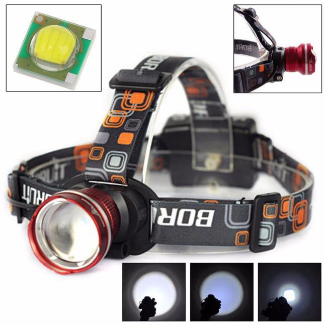 3000LM XM-L T6 LED Headlight Zoomable Flashlight Head Lamp Light