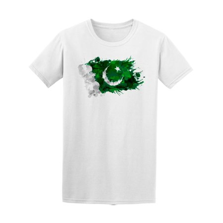 Pakistani Clothes - Pakistan Flag Colorful Splashes Tee Men's -Image by Shutterstock
