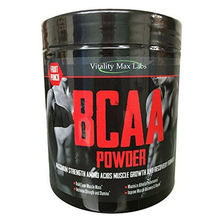 BCAA en poudre - Acides aminés Muscle croissance et formule de récupération - 2- 1- 1 de Leucine Isoleucine et Valine - Fruit
