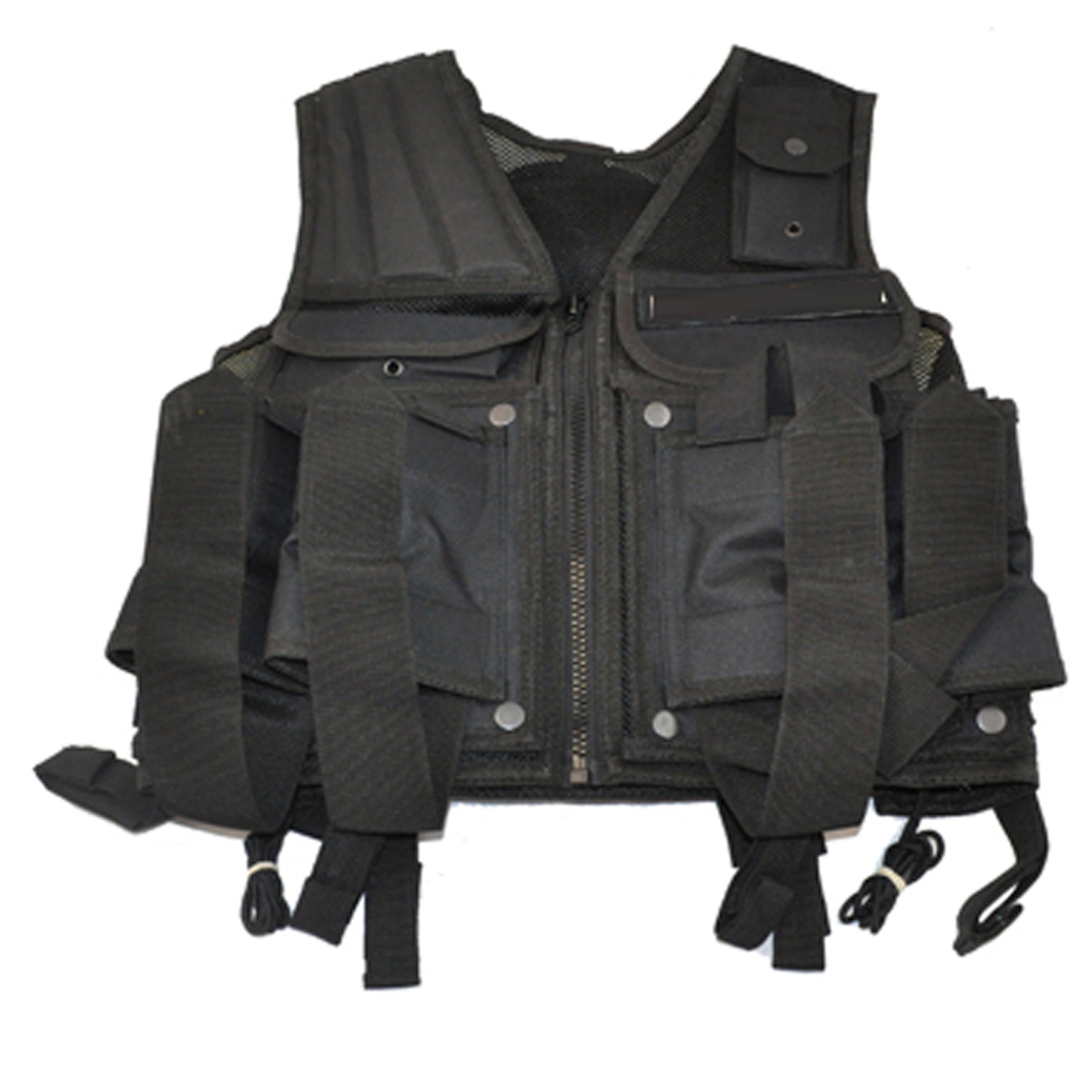 3Skull Paintball Tactical Web Vest w Tank Pouch Black by 3Skull