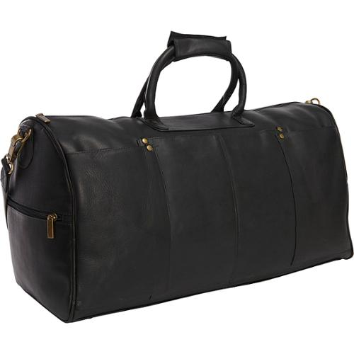 LeDonne Leather Tuscan 22-inch Carry On Duffel Bag Black