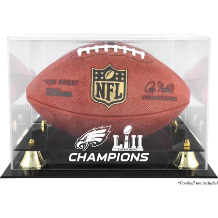 Philadelphia Eagles Super Bowl LII Champions Golden Classic Football Logo Display Case
