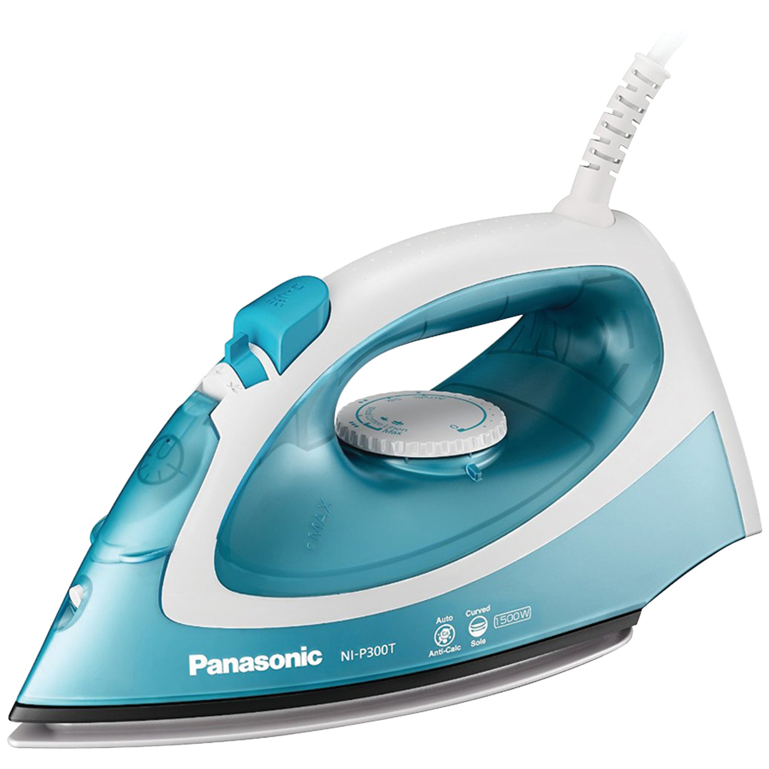 Panasonic Steam Circulating Iron, NI-P300T, Light Blue