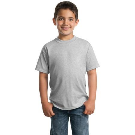 Port Company PC55Y Boys Regular T-Shirt - Ash - XS](Golden Birthday Ideas For Boys)