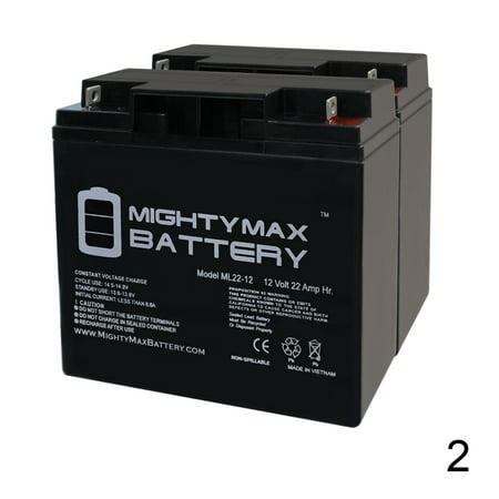 12V 22AH SLA Battery for CAT CJ3000 2000 Peak Amp - 2 Pack