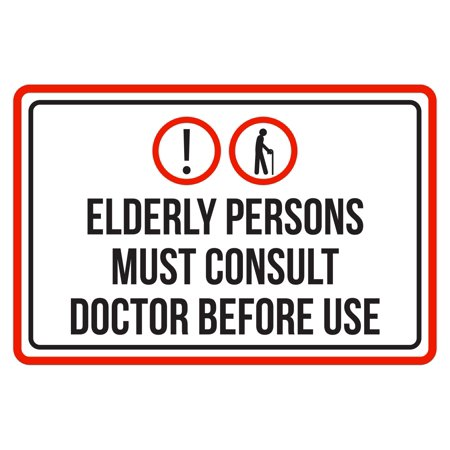 Elderly Persons Must Consult Doctor Before Use Pool Spa Warning Large Sign,