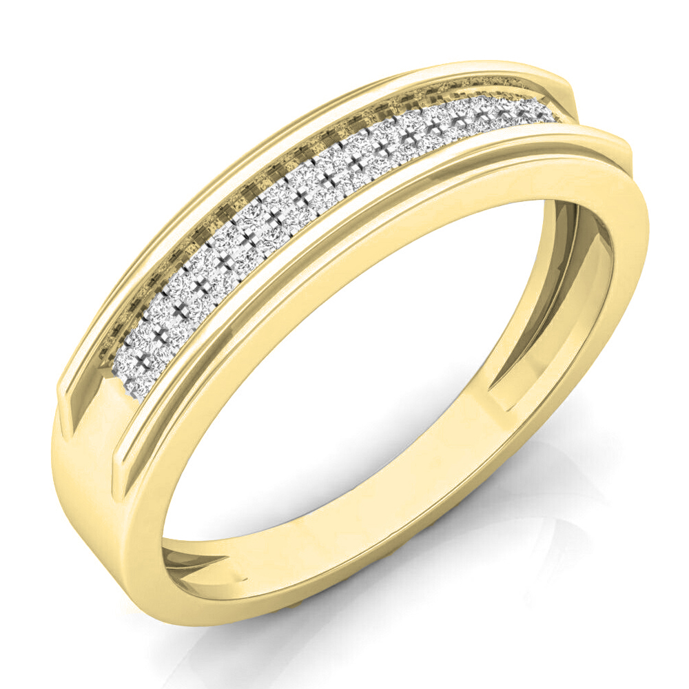 Dazzling Rock 0.15 Carat (ctw) 14K Gold Round White Diamo...