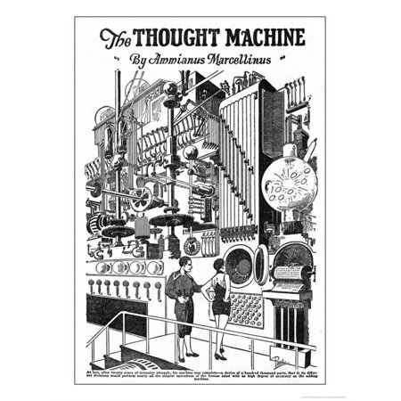 Computer as Envisaged in 1927, Illustration to the Thought Machine by Ammianus Marcellinus Print Wall Art By Frank R.