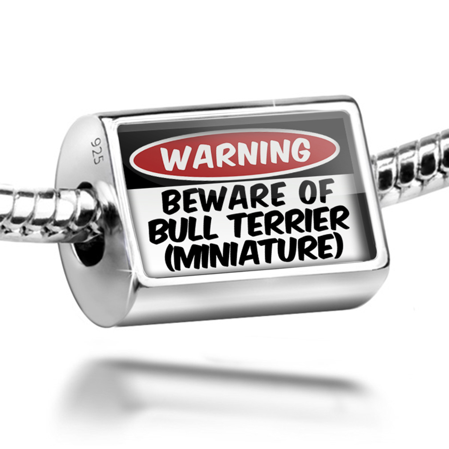 Neonblond Bead Beware of the Bull Terrier (Miniature) Dog...