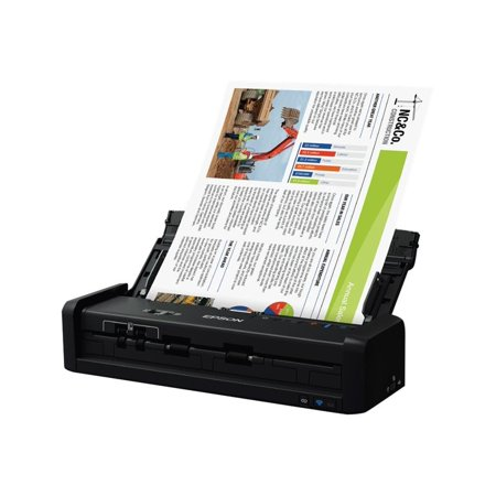 Epson WorkForce ES-300W Wireless Color Portable Document Scanner with ADF for PC and Mac, Sheet-fed and Duplex (Best Document Scanner For Mac 2019)